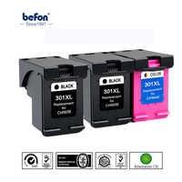 Befon 301XL Re-Fabbricati Cartuccia di Inchiostro di Ricambio per HP 301 HP301 DeskJet 1050 2050 3050 2150 3150 1010 1510 2540