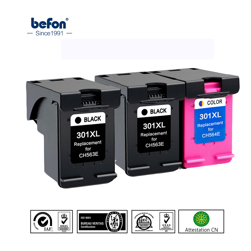 Befon 301XL Re-Manufactured Ink Cartridge Replacement For HP 301 HP301 DeskJet 1050 2050 3050 2150 3150 1010 1510 2540