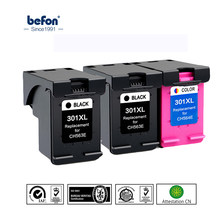 Befon 301XL Re-manufacturados, cartucho de tinta HP 301 HP301 DeskJet serie 1050, 2050, 3050, 2150, 3150, 1010, 1510, 2540(China)