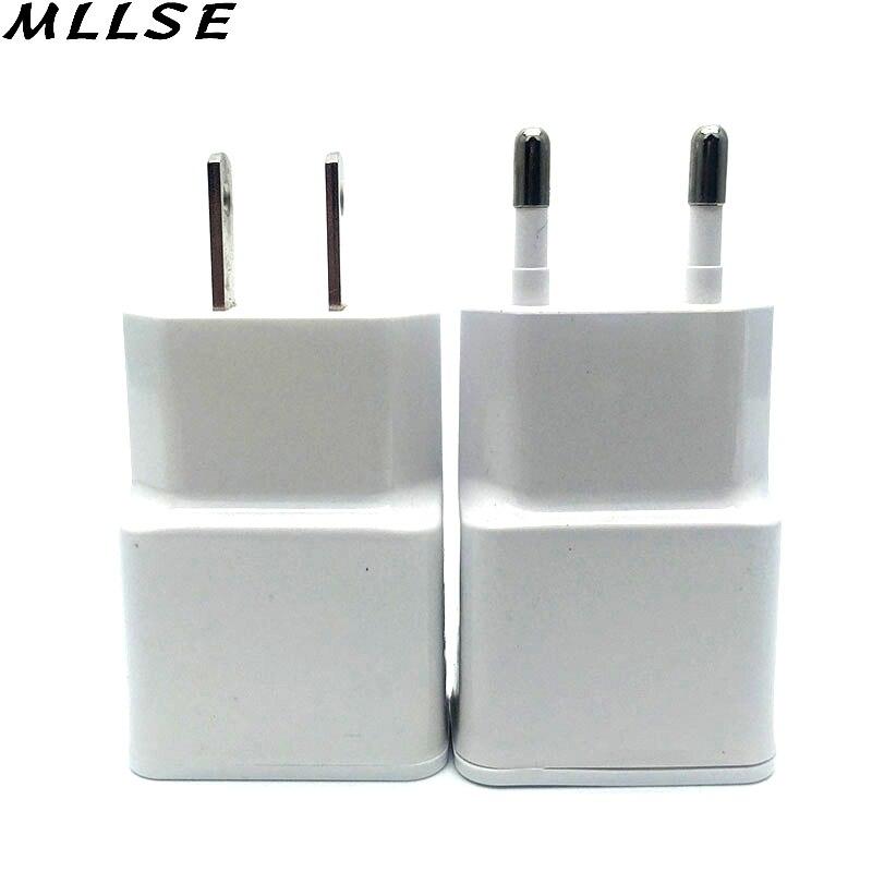 Mllse 1 шт. двойной ЕС 5 В 2A/1A Подключите <font><b>USB</b></font> стены Зарядное устройство адаптер телефон для Iphone 4 5 6 для Samsung Galaxy S3 S4 Примечание 3 Note 4 N9000