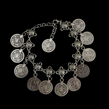 Antique Silver Bohemian Bracelet Barefoot Sandal Turkish Coin Anklet Jewelry Gift