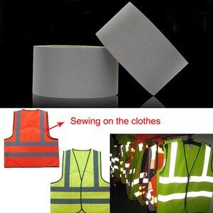 Image 4 - EN471 5cm רוחב גרי רעיוני פוליאסטר בד עבור בגדים