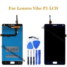 5.5 inç Lenovo Vibe P1 için LCD + dokunmatik ekran digitizer bileşenleri için Lenovo Vibe p1 P1c72 P1a42 p1c58 ekran ücretsiz kargo