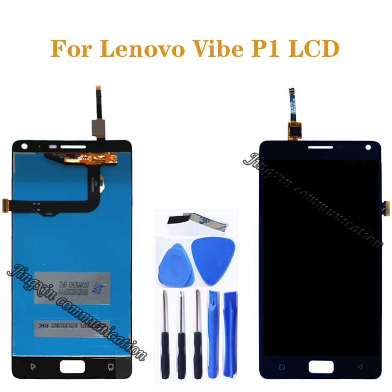 5.5 inches for Lenovo Vibe P1 LCD + touch screen digitizer components for Lenovo Vibe p1 P1c72 P1a42 p1c58 display free shipping-in Mobile Phone LCD Screens from Cellphones & Telecommunications