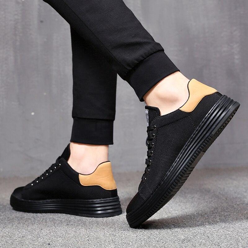MYCORON Men Casual Brand Designer Shoes 2018 Fashion Lace Up Canvas Shoes Men Boots Classic Mens Shoes Zapatos De Los Hombres