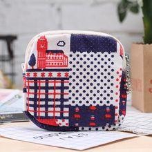 Cartoon Cute Sanitary Napkin Bag Purse Holder Organizer Storage Bags with Zipper Traveling Travel Na