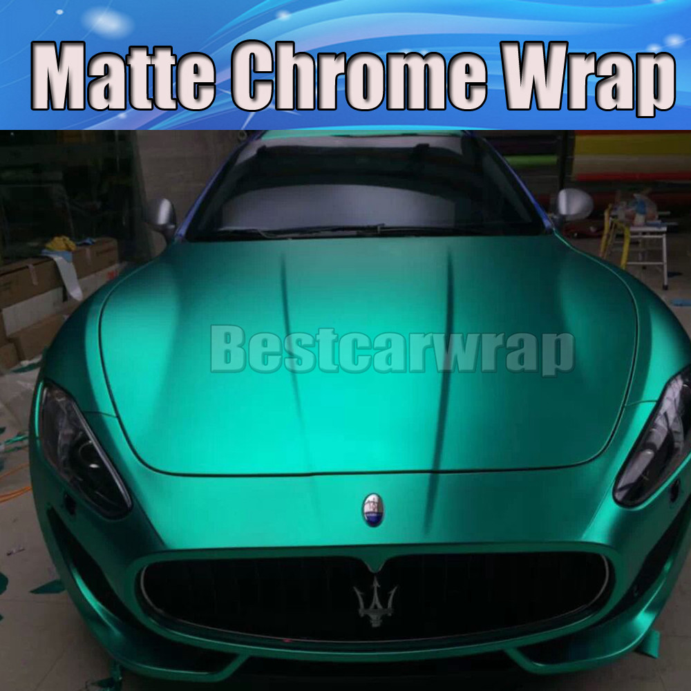 *Satin Chrome Teal Blue Matte Vinyl Wrap Sticker Decal Sheet Film Bubble Free
