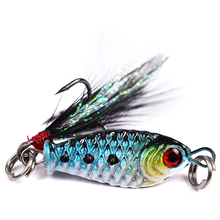 YeMuLang 2 pcs Metal Spinner Fishing Lures 2.5cm 6.4g Hard Baits Sequins Noise Paillette With 8# Treble Hook For Crap Fishing