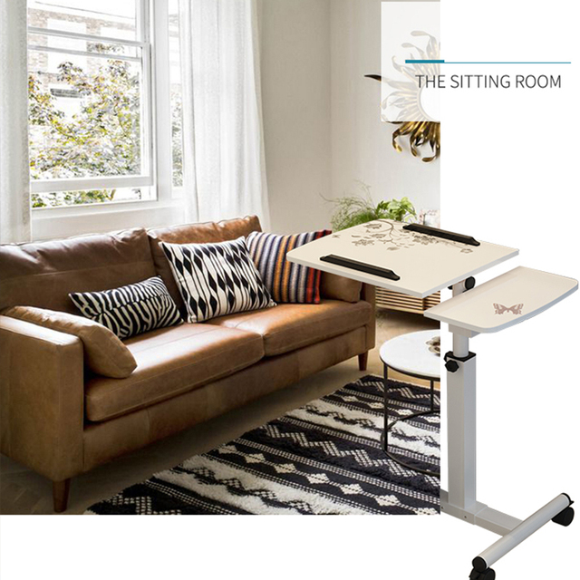 Delivery  normal Foldable Computer Table Adjustable Portable Laptop Desk Rotate Laptop Bed Table Can be Lifted Standing Desk 4