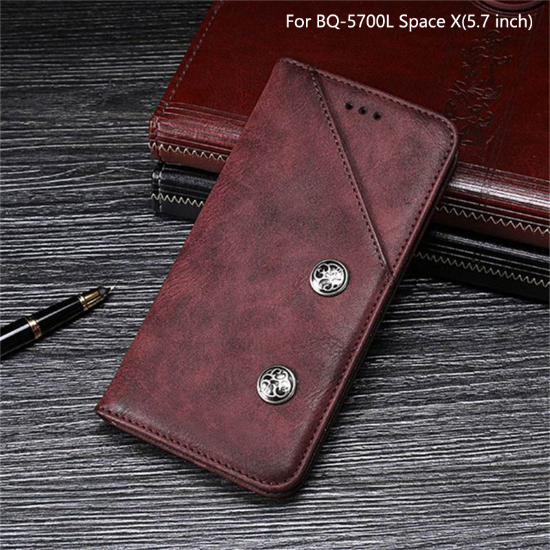 For <font><b>BQ</b></font> Mobile <font><b>BQ</b></font>-<font><b>5700L</b></font> <font><b>Space</b></font> <font><b>X</b></font> Case 5.7 inch Luxury Vintage Flip PU Leather Case For <font><b>BQ</b></font> <font><b>5700L</b></font> <font><b>Space</b></font> <font><b>X</b></font> Cover With Card Slot Coque image