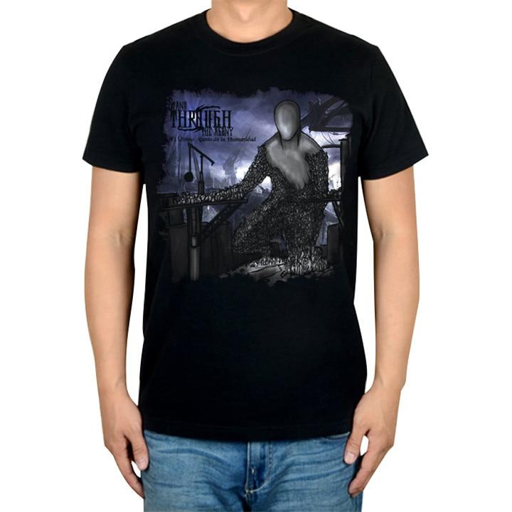 2 дизайна, брендовая музыкальная футболка Agony Rock, хлопок, панк, фитнес тяжелый рок, металлические черные рубашки, большие и высокие - Цвет: 2