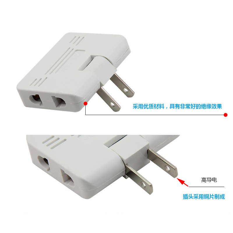 3 sztuk wtyczka Mini wylot konwerter zasilania obracać ładowarka ścienna adapter gniazda konwerter Splitter gniazdo jednego do trzech konwersji energii
