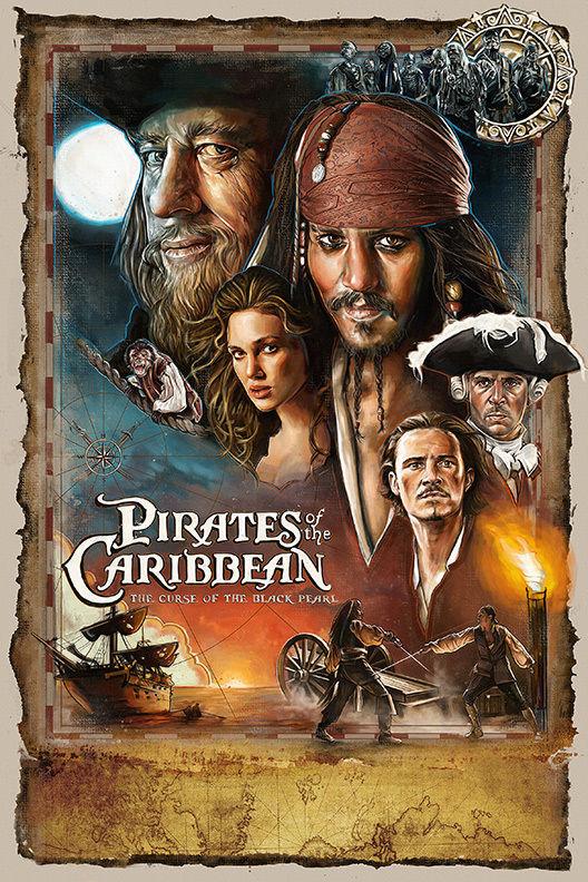 <font><b>Pirates</b></font> <font><b>of</b></font> <font><b>the</b></font> <font><b>Caribbean</b></font> <font><b>Curse</b></font> <font><b>of</b></font> <font><b>the</b></font> <font><b>Black</b></font> Pearl Movie art silk Poster