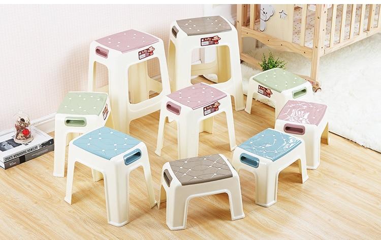 цена 29*20*21CM Eco-friendly PP Square stool Portable Non-slip durable thicken footstools онлайн в 2017 году