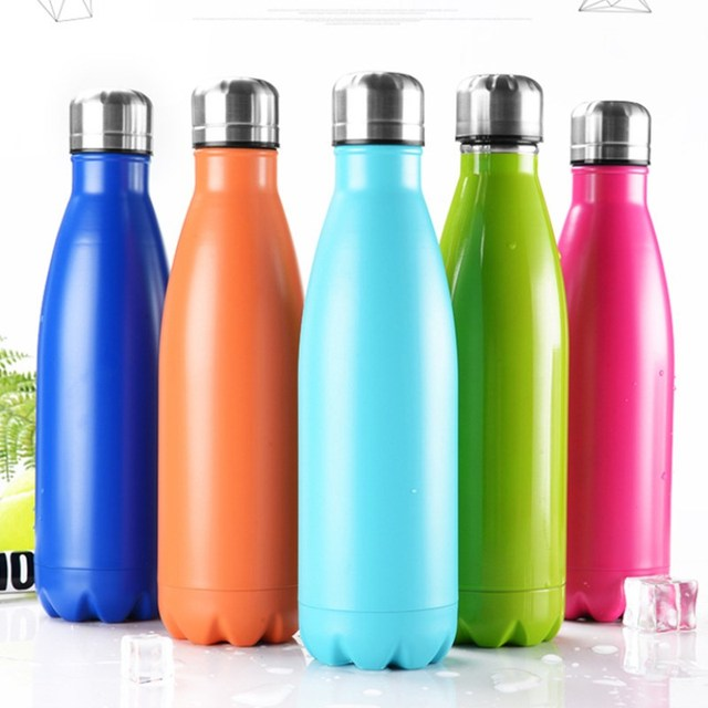 Stainless steel vacuum flask COLA Shaped Thermos bottle ...