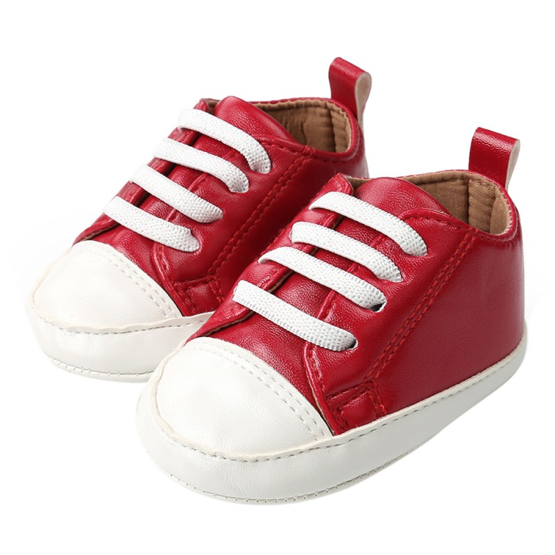 Size 5 toddler girl shoes for baby Boy Girl PU Leather Sneakers Soft Sole Infant Baby First Walkers