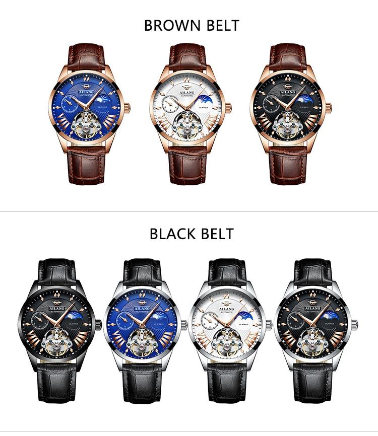 HTB1vZdDd.GF3KVjSZFvq6z nXXaH AILANG Quality Tourbillon Men's Watch Men Moon Phase Automatic Swiss Diesel Watches Mechanical Transparent Steampunk Clock