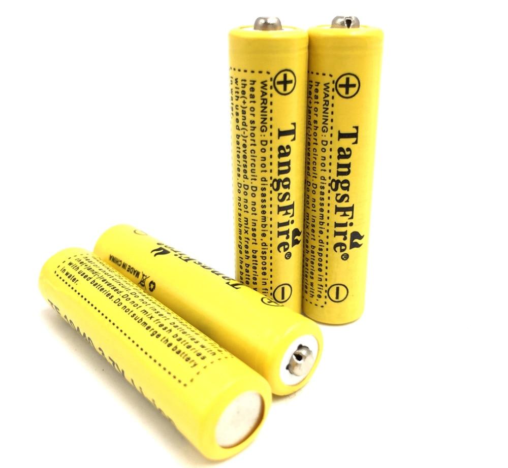 4PCS TangsFire 3 7V 10440 Li ion battery 600mAh AAA Rechargeable Battery in Rechargeable Batteries from Consumer Electronics