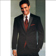 mens three piece black suit groom tuxedo for wedding formal wear tailor suit 2016 high quality