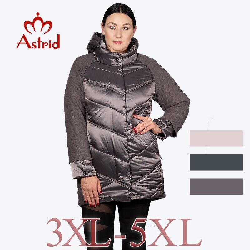 ac50cc1a225 2018 Астрид пуховик больших размеров женщин в зимнее оригинальный дизайн  пальто толстый теплый от ветра женская модная одежда свободного покроя  пальто для ...