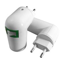 centechia Good Sale US/EU Plug PBT PP To E27 White Base LED Light Lamp Holder Bulb Adapter Converter Socket To E27 e27 lamp socket lamp base 2017 light holder us eu plug lighting fixture connector accessories