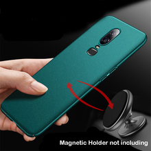 For Oneplus 6T Case Matte Original AIXUAN One Plus Oneplus6 Metal Plastic Magnetic Car Holder Cover 6 1+6 Shell