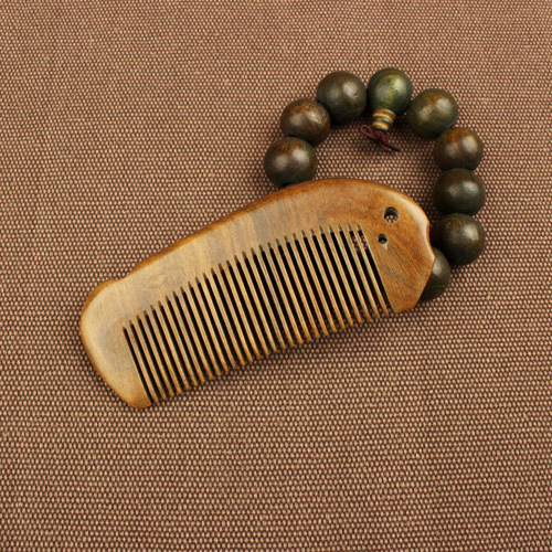 TI30 Wooden Comb Natural Sandalwood Green Sandalwood Comb Fish Shaped Comb l64 sandalwood comb green tan comb mini sandalwood comb page 7