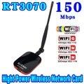 Venta caliente de Alta Potencia/Velocidad N9000 Conexión Gratuita A Internet WiFi Adaptador USB Inalámbrico 150 Mbps de Largo Alcance + Wi fi antena Wi-fi Receptor
