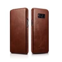Original ICARER High Quality Handmade Genuine Retro Leather Flip Case Cover For Samsung Galaxy S8 Plus Leather Cover