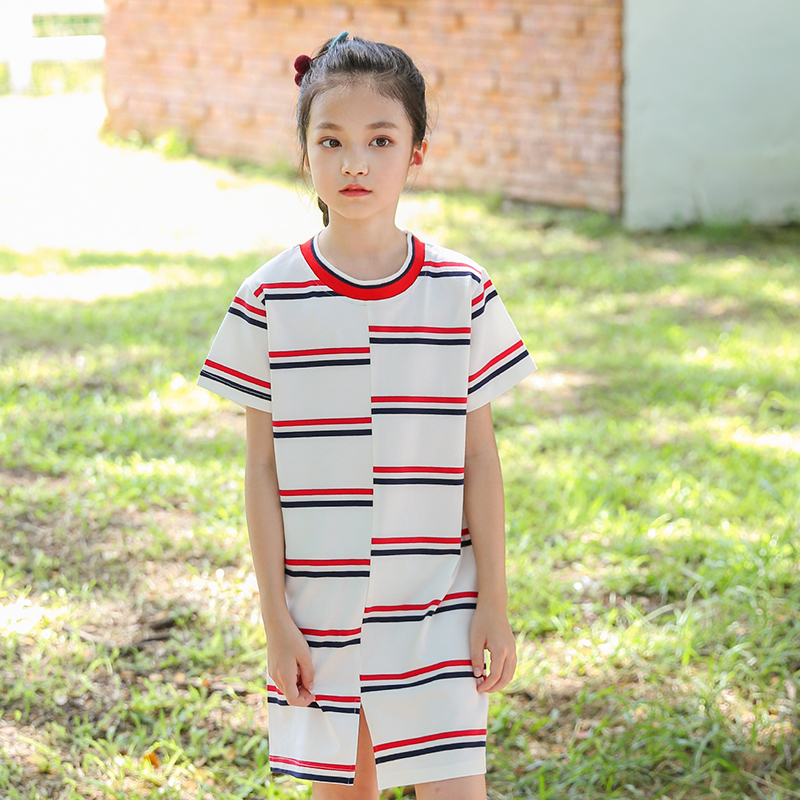 baby big girls striped dresses new 2018 summer kids short sleeve dress girl princess clothes children cotton sundress clothing clearance baby dresses princess girls dress 2 5years cotton clothing dress summer clothes for girl