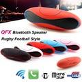 Qfx rugby football estilo mini bluetooth speaker portátil bass fone de ouvido estéreo Ao Ar Livre sem fio de ALTA FIDELIDADE Do Carro Handfree Com FM USB Micro TF AUX