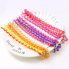 6PCS/Lot New Cute Girls Headband Colorful Crystal Long Elastic Hair Bands Hairwear Gift Hairbands Accessories