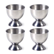 4 Pcs/lot Stainless Steel Soft Boiled Egg Cups Holder Stand Storage Kitchen Gadgets