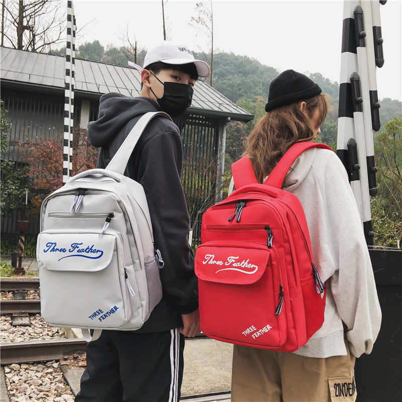 Leisure Women Men Backpacks Female Backpacks Schoolbag School Shoulder Bags for Teenage Girls Boys 2019 Fashion Travel Bagpack