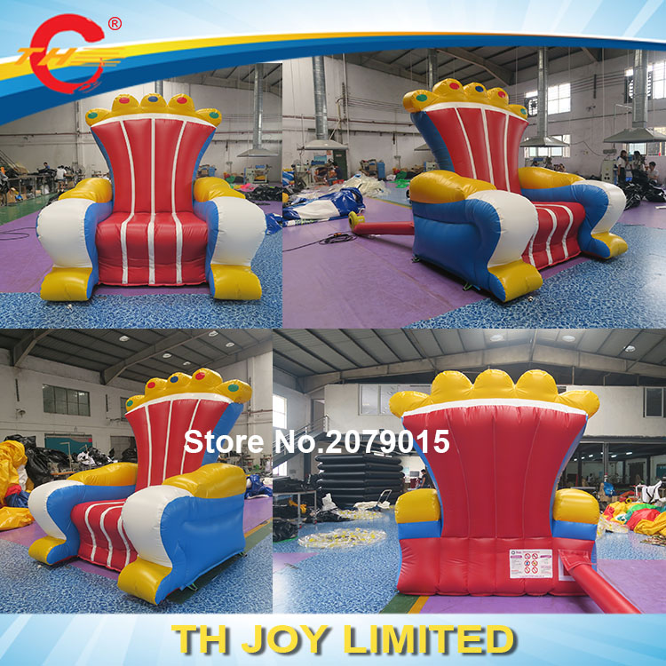 Inflatable Kids Birthday Chair: Free Door Shipping Pvc Tarpaulin Popular Inflatable Throne