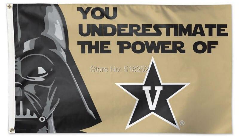 Вандербилта Звездные войны флаг 3x5 футов NCAA 150x90 см NFL баннер 100d полиэстер пользовательских флаг люверсы 6038, бесплатная доставка