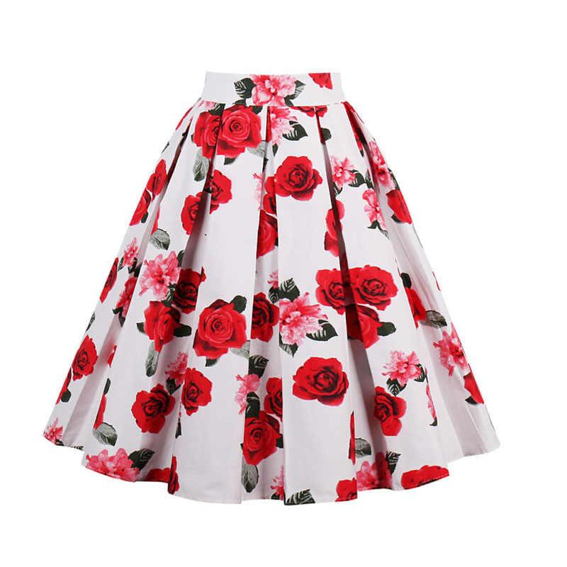 582f46ca97060 Sisjuly women casual skirt 1950s summer blue floral print retro elegant  skirts female cute elegant stylish 2019 women's skirts