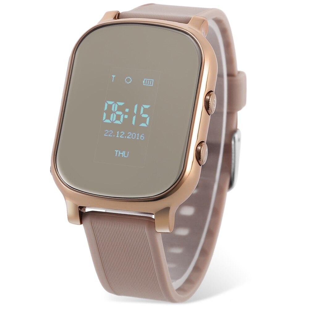 T58 Enfants Smartwatch Téléphone 0.96 Pouce MTK6261 SOS Appel GPS Bluetooth Bracelet Google Map Sos Bouton Tracker Gsm GPS Locator