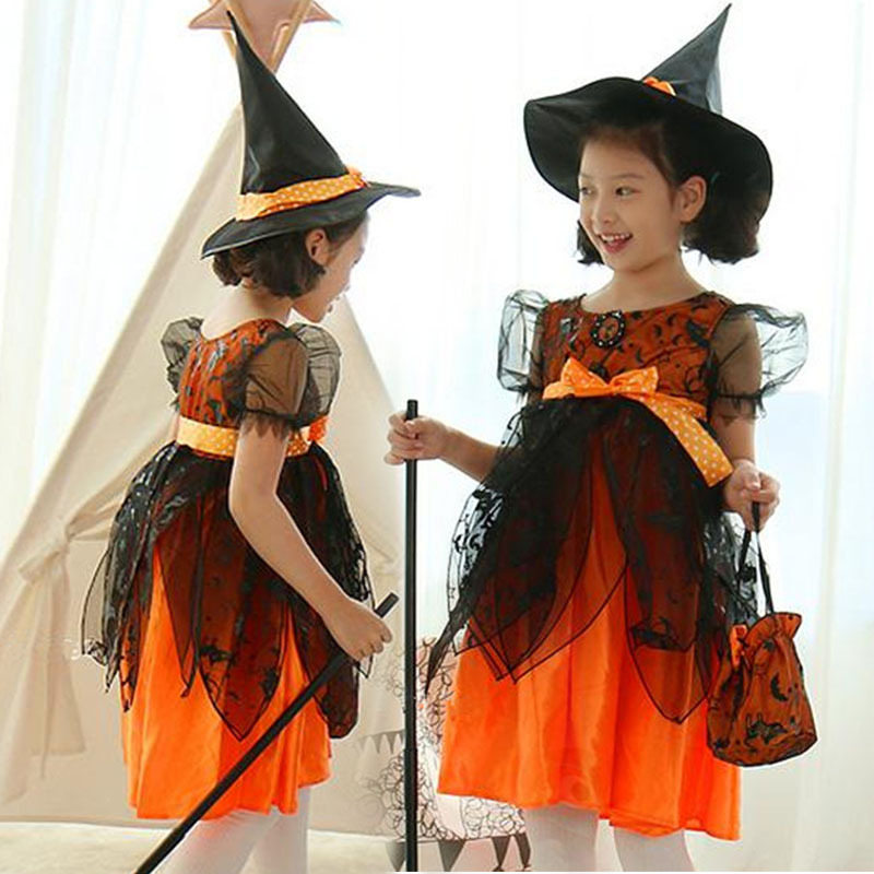 2016 Halloween/ Christmas Toddler Girls Short Sleeve Cosplay Show Performance Stage Mesh Lace Mixed Color Ball Gown Lovely Dress