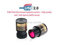 Best Buy Free shipping,5.0Mp USB2.0 Aptina CMOS Sensor Microscope digital eyepiece camera/captures still images,streams livevideos,