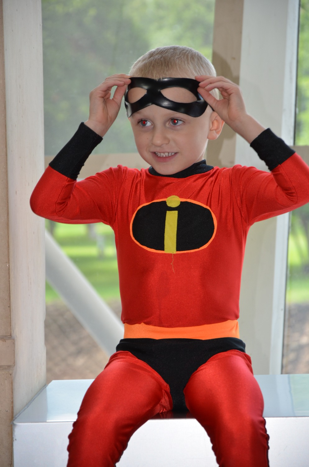 Lycra Spandex Zentai Kids The Incredibles Dash Superhero Cosplay Costume