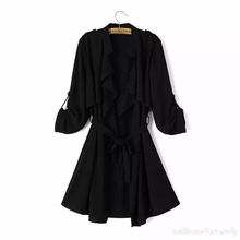Woman Trench Coat Spring Autumn Cloak Cardigan Manteau Femme Windbreaker Palto British Style Black Maxi Down Coat Long Overcoat