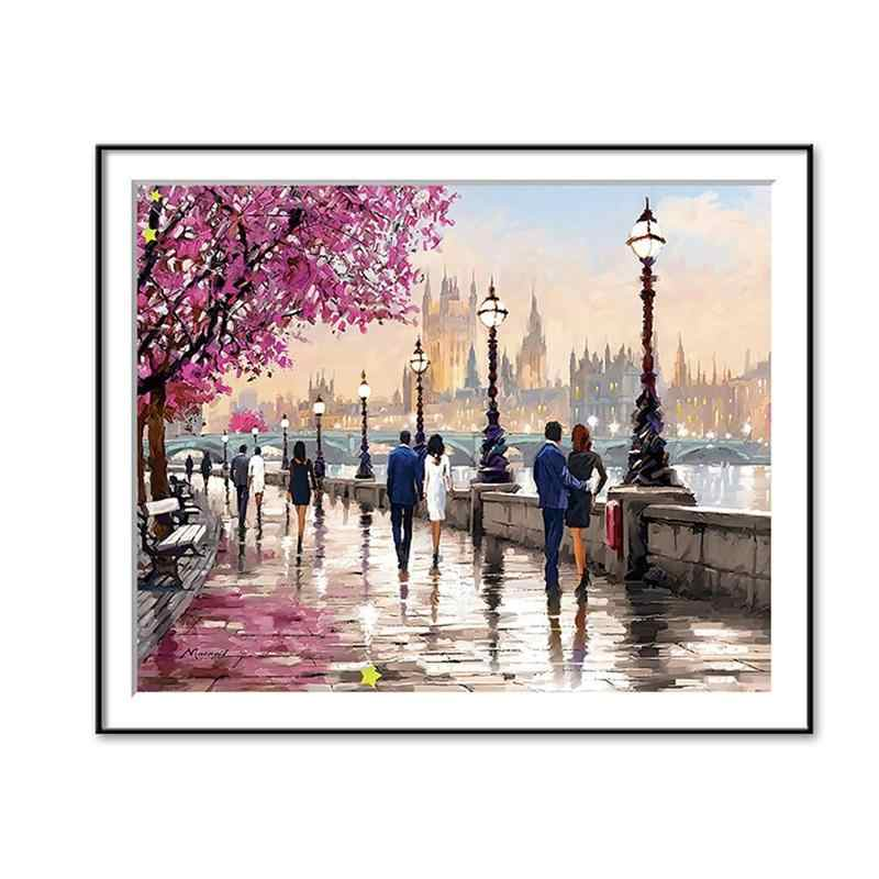 Cherry Tree Landscape Canvas Paintings For Office Coffee Shop Home Decoration Supplies Unframed Wall Pictures For Living Room