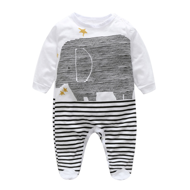 Fashion Casual Cute Unisex Baby Girl Boys Spring Summer Jumsuits Striped O-neck Baby Rompers baby rompers o neck 100