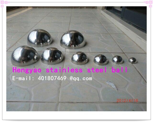 80 mm diameter 201 stainless steel hollow hemisphere half sphere background wall decoration stainless steel tube