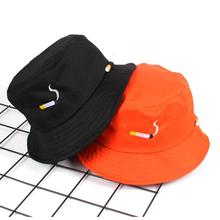 d67ad4a6c5318 NO CHILL cigarette embroidery bucket hat for men women hip hop fisherman hat  Adult panama bob