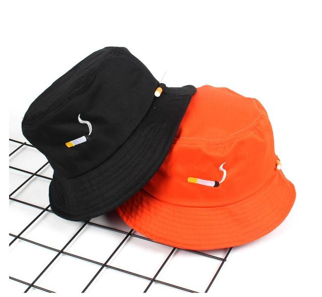 NO CHILL cigarette embroidery bucket hat for men women hip hop fisherman hat  Adult panama bob 882d6dc278a