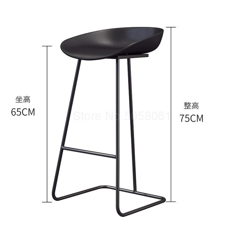 Скандинавский барный стул из кованого железа креативный простой барный стул кафе Золотой барный стул передний высокий стул - Цвет: ml4