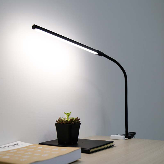 New arrival flexible led usb book light working studying black pink green desk lamp clamp 30
