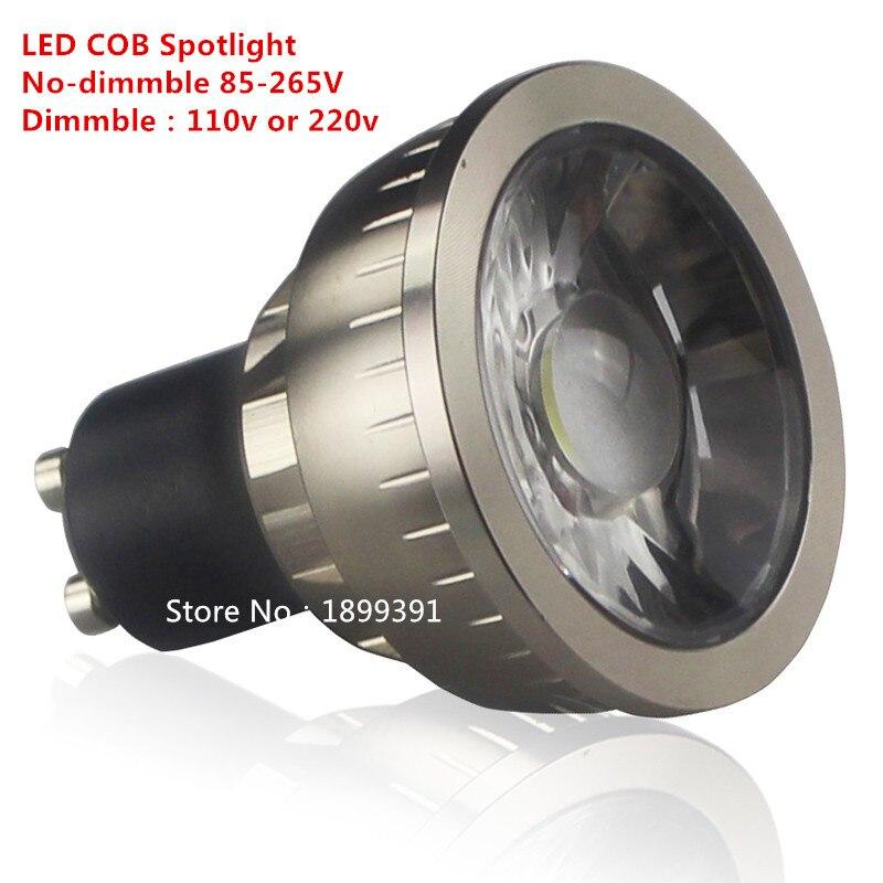 Lâmpada de led super brilhante, regulável, gu10, cob, 9w, 6w e 15w, 110v, 220v, holofote, quente branco/frio branco/branco puro iluminação led
